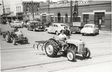 Tractor in a 1950 Parade