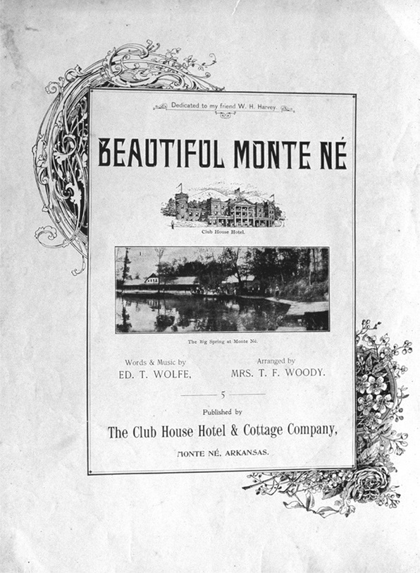 Cover for the Sheet Music for Beautiful Monte Ne