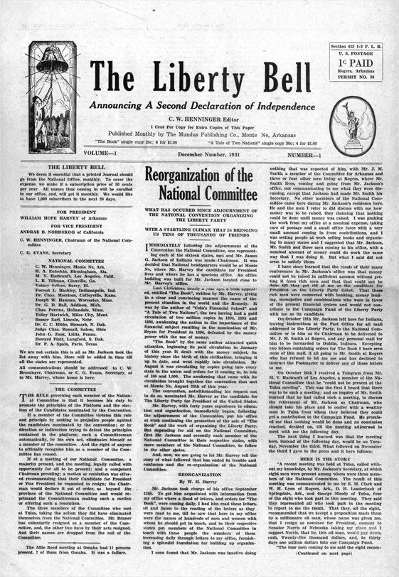 Issue of the Liberty Bell